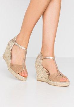 San Marina - LOTIS - Sandalen met hoge hak - sable/or