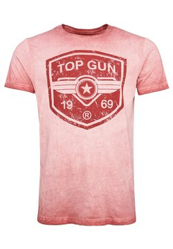 TOP GUN - T-shirt print - red