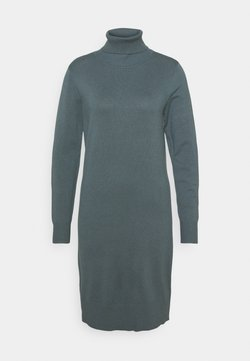 Saint Tropez - MILASZ ROLLNECK DRESS - Neulemekko - dark slate