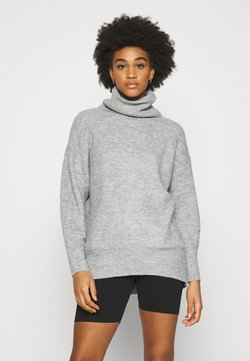 New Look - FASH SLOUCH ROLL - Strickpullover - mid grey