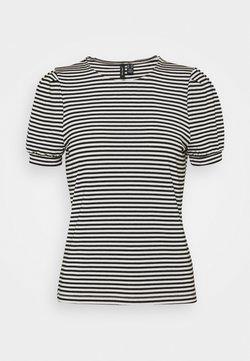Vero Moda Petite - VMKATE TOP PETITE - T-Shirt print - black/white