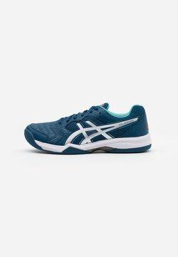 ASICS - GEL-DEDICATE 6 INDOOR - Buty tenisowe na nawierzchnię dywanową - mako blue/white