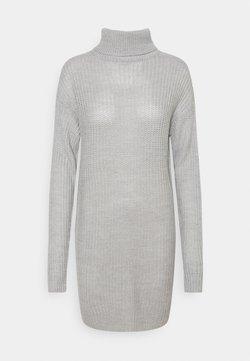 Missguided Tall - ROLL NECK BASIC DRESS - Neulemekko - grey