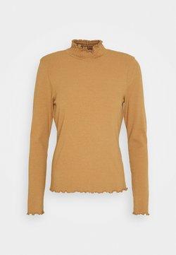 Vero Moda Tall - VMGLADYS HIGHNECK  - Camiseta de manga larga - tobacco brown
