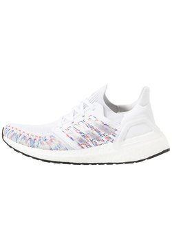 adidas Performance - ULTRABOOST 20  - Laufschuh Neutral - footwear white/core black/signal green
