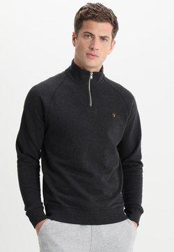 Farah - JIM ZIP - Sweater - black marl