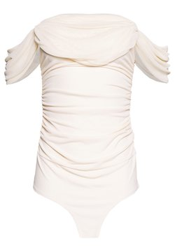 Nly by Nelly - OFF SHOULDER BODY - Print T-shirt - off white