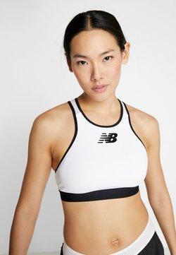New Balance - RHYTHM N RUN BRA - Medium support sports bra - white