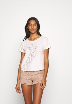 Boux Avenue - NOT AT MY LEVEL TEE SHORT  - Pigiama - oatmeal