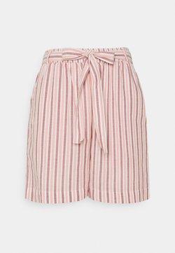 KnowledgeCotton Apparel - TULIP STRIPED PAPER BAG - Shorts - bright white