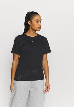 Reebok - BURNOUT TEE - T-Shirt print - black