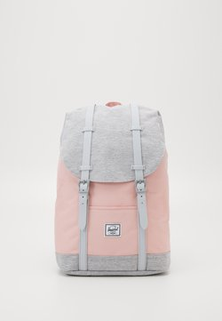 Herschel - RETREAT MID VOLUME - Reppu - mellow rose/light grey crosshatch