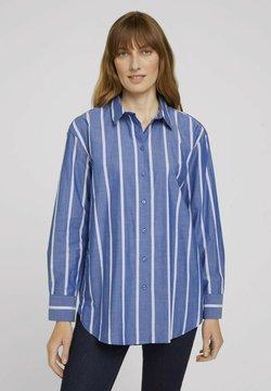 TOM TAILOR - Hemdbluse - blue offwhite vertical stripe