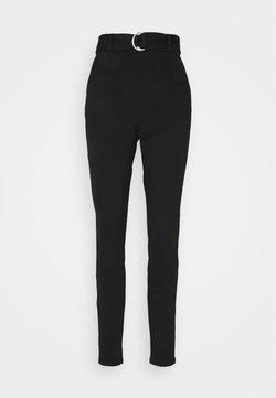 Vero Moda Tall - VMEVA LOOSE BELT PANT - Stoffhose - black