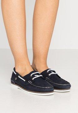 Barbour - BOWLINE BOAT SHOE - Bootschoenen - navy
