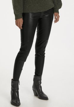 Part Two - TESSAPW STRETCH  - Leather trousers - black