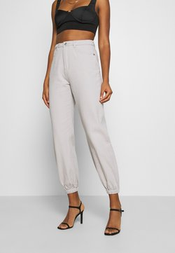 Missguided - RIOT HIGHWAISTED - Jeans baggy - cream