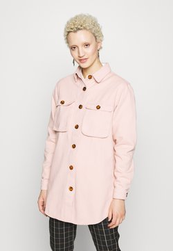 Missguided Tall - WITH TORTOISE SHELL BUTTONS - Skjorta - pink