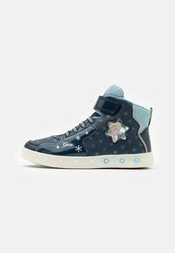 Geox - DISNEY FROZEN SKYLIN GIRL  - Sneaker high - navy/sky