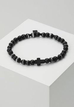 Icon Brand - HERRING BEADED BRACELET - Armband - black