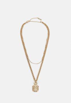 Topshop - ENGRAVED PENDANT - Necklace - gold-coloured