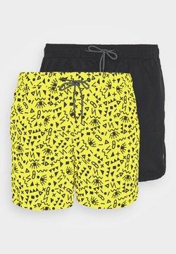 Jack & Jones - JJIBALI JJSWIM 2 PACK - Swimming shorts - vibrant yellow/black solid