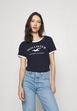 Hollister Co. - TECH CORE - T-shirt imprimé - navy