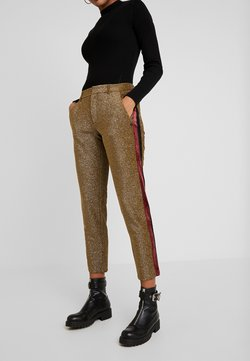 Scotch & Soda - TAPERED PANTS WITH SIDE PANEL - Trousers - olive