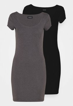 Even&Odd - 2 PACK - Vestido ligero - black/mottled grey