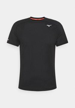 Mizuno - DRYAEROFLOW TEE - T-shirt de sport - black