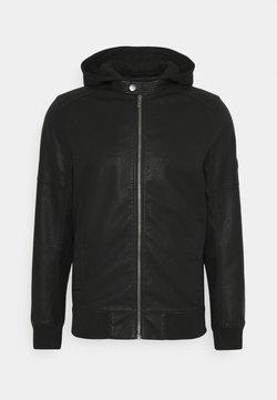 TOM TAILOR DENIM - Faux leather jacket - black