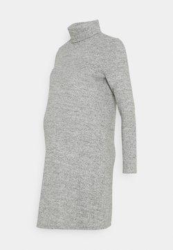 Pieces Maternity - PCMPAM HIGH NECK DRESS - Neulemekko - light grey melange