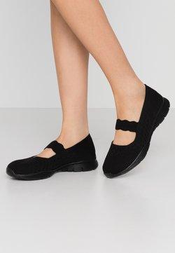 Skechers - SEAGER - Ballerina's met enkelbandjes - black
