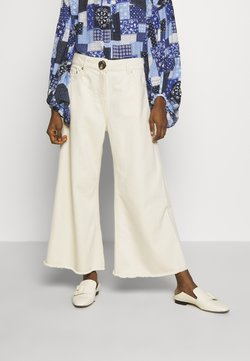 Mother of Pearl - CROPPED WIDE LEG TROUSER - Jeans a zampa - ecru