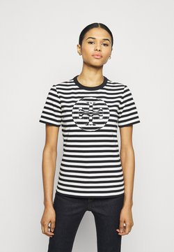 Tory Burch - STRIPED LOGO  - T-Shirt print - black