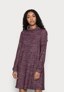 GAP Petite - TURTLENECK DRESS - Neulemekko - secret plum
