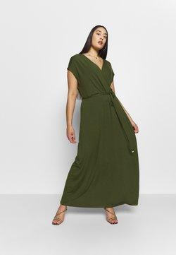 Dorothy Perkins Curve - WRAP DRESS - Maxi dress - khaki