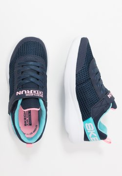 Skechers - GO RUN FAST - Sneakers laag - navy/aqua