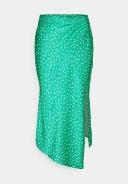 Glamorous - MIDI SKIRT WITH SIDE SPLIT - Blyantnederdel / pencil skirts - green ditsy