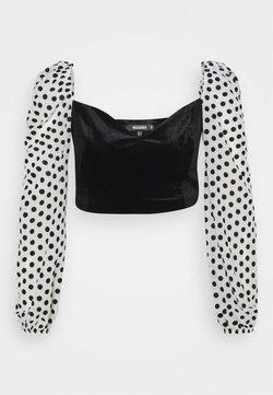 Missguided - SPOT SLEEVE  - Bluse - black