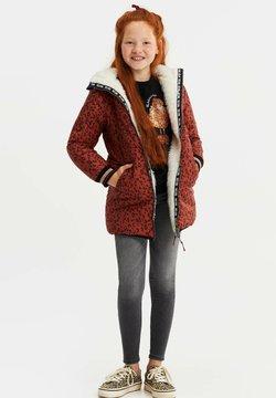 WE Fashion - MET CAPUCHON REVERSIBLE - Winterjas - terra cotta