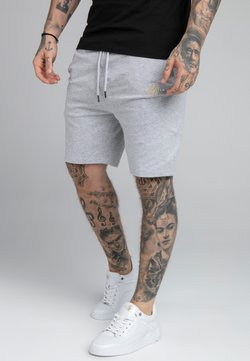 SIKSILK - DUAL LOGO - Shorts - grey marl