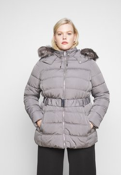 New Look Curves - ELLIE BELTED FITTED PUFFER - Wintermantel - mid grey