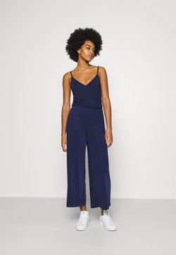 Even&Odd - BASIC - STRAPPY V NECK JUMPSUIT - Combinaison - dark blue