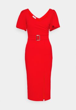 WAL G. - EMMA BUCKLE MIDI DRESS - Sukienka z dżerseju - red
