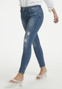 Denim Hunter - 40 THE CELINAZIP TORN CUSTOM - Jeans Skinny Fit - medium blue vintage