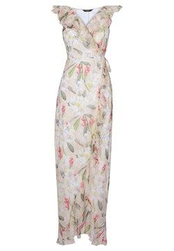 Lipsy - ABBEY CLANCY X PRINTED RUFFLE MAXI DRESS - Maxi-jurk - cream