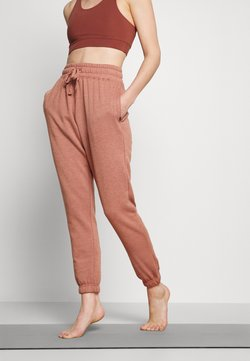 Cotton On Body - LIFESTYLE GYM TRACK PANTS - Pantalon de survêtement - cashew marle