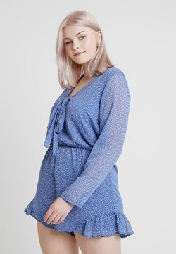Glamorous Curve - SPOT LONG SLEEVE PLAYSUIT - Combinaison - blue random