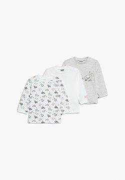 Jacky Baby - LANGARM 3 PACK - Camiseta de manga larga - offwhite/grau